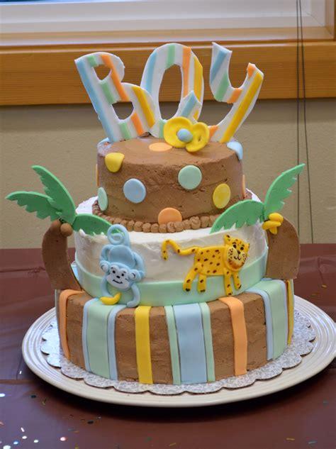 Jungle Theme Baby Shower Cake Boy