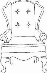 Armchair Furniture Coloring Stamps Pages Chairs Paper Digi Armchairs Visit sketch template