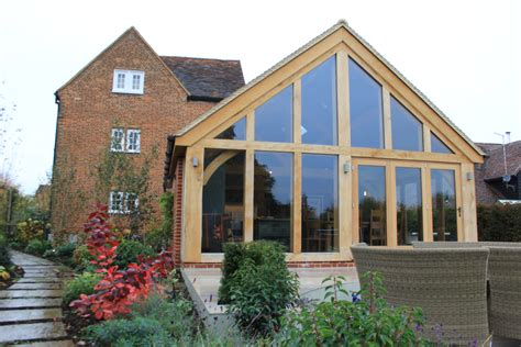 oak framed kitchen extension  listed farmhouse