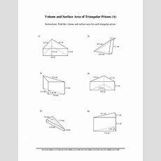 Volume And Surface Area Of Triangular Prisms (a