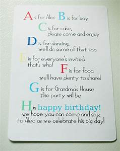 A is for alec abc 1st birthday my insanity for 1st birthday invitation letter