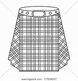 Kilt Template Coloring Pages Scottish sketch template