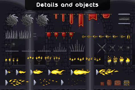 castle platformer pixel art tileset craftpixnet