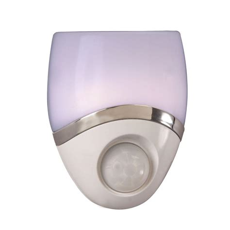 motion activated night light amerelle automatic led motion activated geometric
