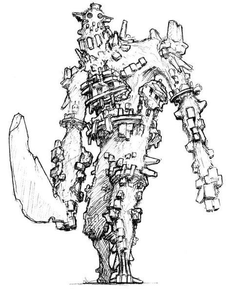 Shadow Of The Colossus Colossus Concept Art Shunpei