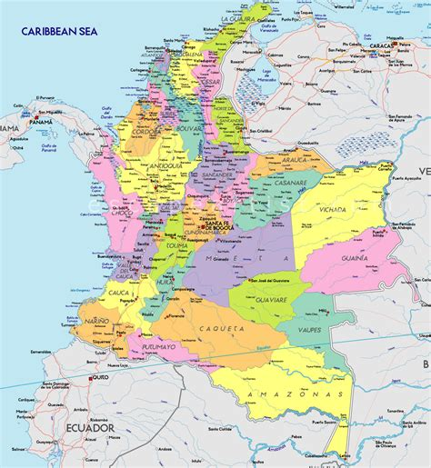 map  colombia south america maps map pictures