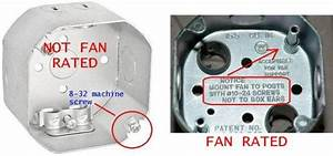 Ceiling fan rated electrical box lighting and fans