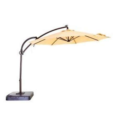 Hton Bay Patio Umbrella With Solar Lights by Hton Bay 11 Ft Dia Solar Powered Patio Umbrella In