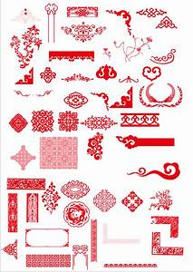 China style ornaments with frame vector - Vector Frames ...