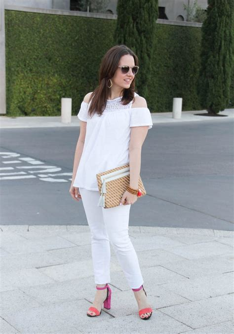 White on White Outfit + Block Heel Sandals   Lady in VioletLady in Violet