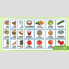 Food Word And Picture Cards  German  Food Word And Picture
