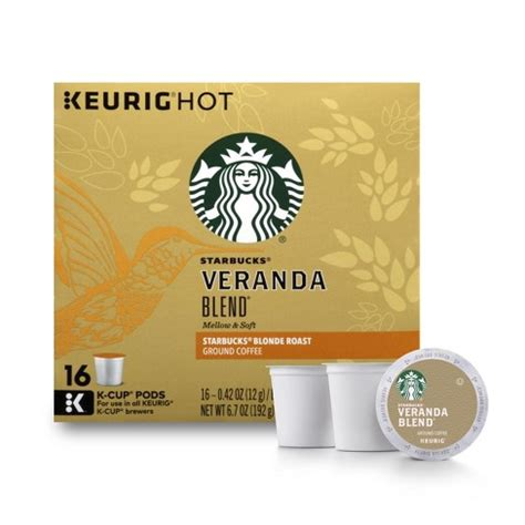 Starbucks® blonde roast—subtle with delicate nuances of soft cocoa and lightly toasted nuts. Starbucks® Veranda Blend Blonde Roast Coffee - K-Cup Pods - 16ct : Target
