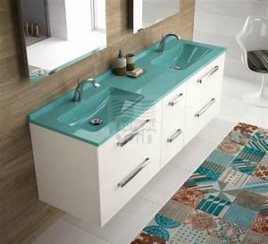 Vasque En Verre Salle De Bain : meuble salle de bain en verre wonderful faience en verre ~ Edinachiropracticcenter.com Idées de Décoration