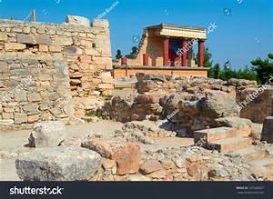 Knossos Palace Crete Greece Knossos Palace Stock Photo ...