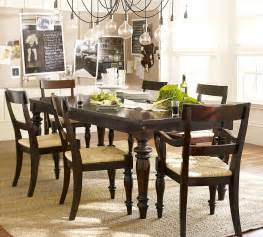 kitchen dining furniture pottery barn montego turned leg dining table copycatchic
