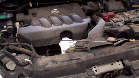 diy nissan versa engine oil  filter service youtube