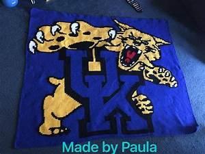 University Of Kentucky Wildcats Inspired Crochet Graph