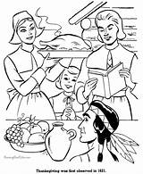 Coloring Thanksgiving Pages Dinner Printable Sheet Holiday Pilgrims Raisingourkids Printing Help History American sketch template