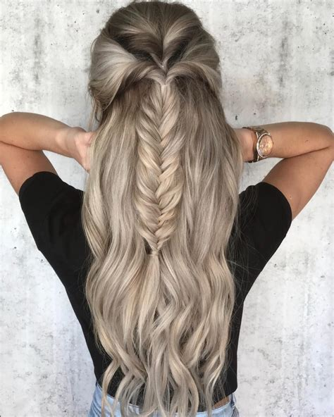 trendy messy chic braided hairstyles fishtail