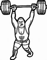 Coloring Lifting Weight Printable Wecoloringpage Weightlifting Colouring Onlinecoloringpages sketch template