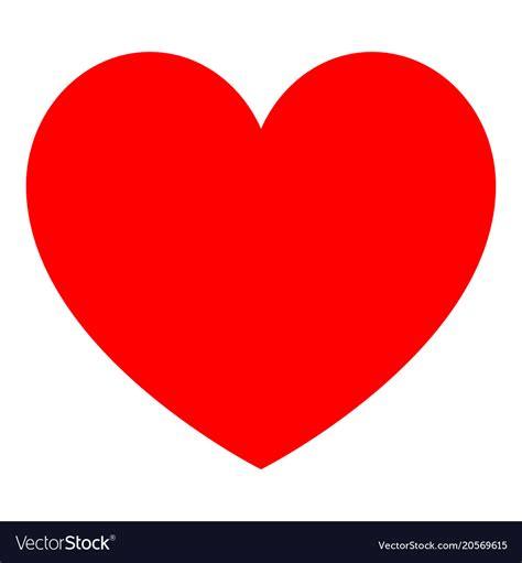 heart red color royalty  vector image vectorstock