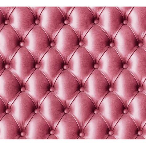 POINTWC - papier peint Koziel - capitons cuir rose