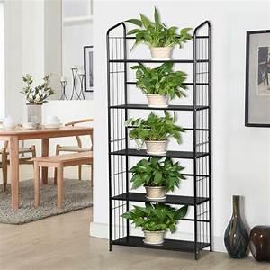 5, Tier, Metal, Plant, Stand, Decorative, Planter, Holder, Flower, Pot, Storage, Shelf, Rack
