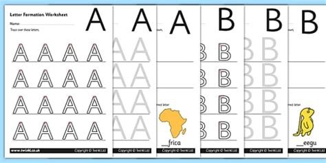 uppercase   letter formation worksheets letter formation