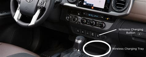 toyota tacoma qi wireless charging feature