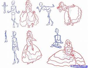 How to Draw Princesses, Step by Step, Figures, People ...