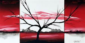 Red original fine art paintings by dapore
