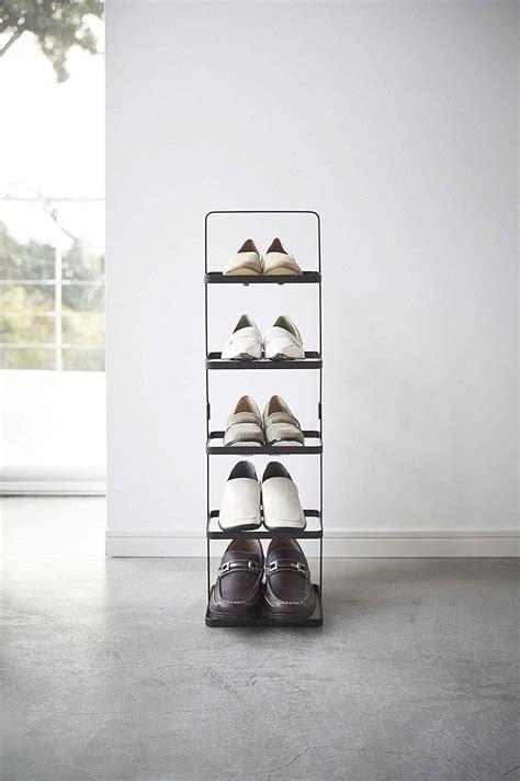 yamazaki home tower shoe rack black