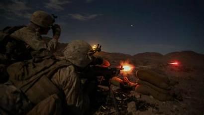 Marine Corps Military Combat Night Fire Gun