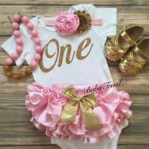 pink gold birthday vintage first birthday ruffle by