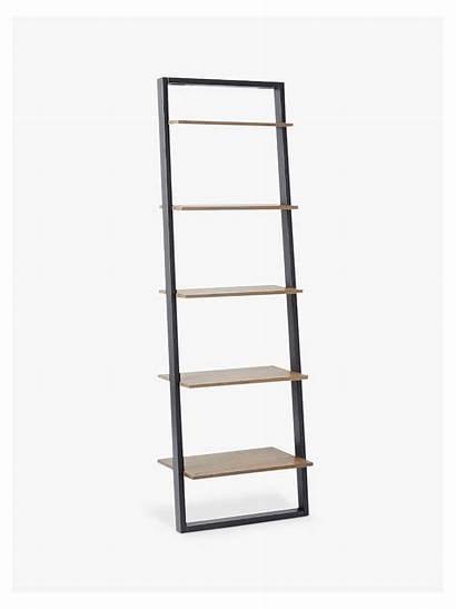 Ladder Shelf Shelving Desk Wide Bookshelf Elm
