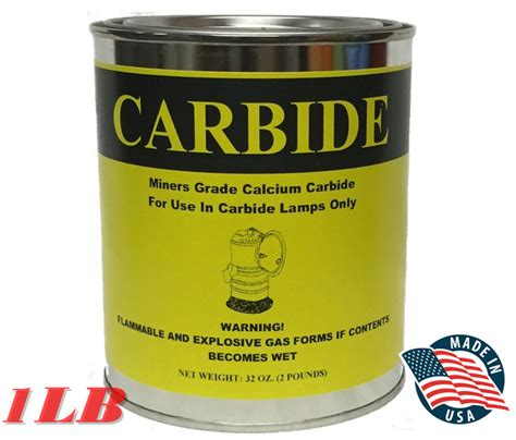 1 lb can calcium carbide lamps fire start lamp fuel gun