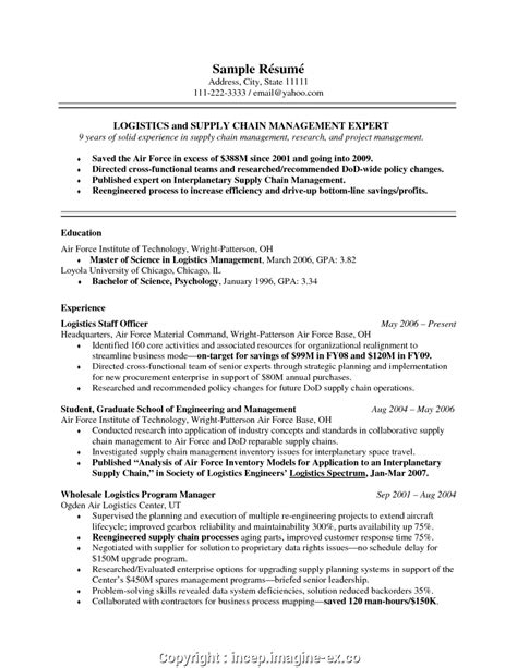 Manager Resume Objective by Supply Chain Management Resume Objective Bijeefopijburg Nl