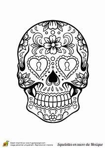 Tete De Mort Mexicaine Dessin : coloriage adulte tete de mort ~ Melissatoandfro.com Idées de Décoration