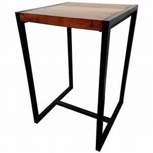 Bar Mange Debout : tables hautes mange debout en bois et acier beton lumineux mathi design ~ Teatrodelosmanantiales.com Idées de Décoration
