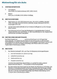 Mietvertrag Was Beachten : muster mietvertrag auto vorlage zum download ~ Lizthompson.info Haus und Dekorationen