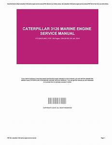 Caterpillar 3126 Marine Engine Service Manual By