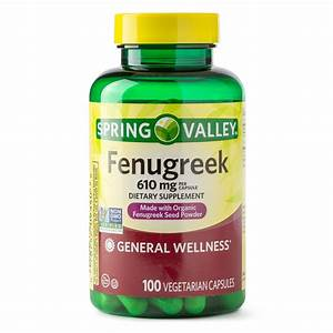 Spring Valley Fenugreek Dietary Supplement Capsules  610mg  100 Count - Walmart Com