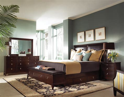 Advantage Bedroom Designs With Dark Brown Furniture Ideas