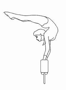 gymnastics free coloring pages With cantilever beam