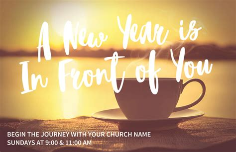 year coffee cup postcard church postcards outreach