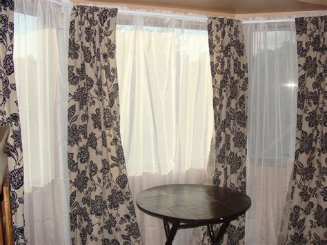 Target Sheer Window Curtains by Owen Family Six Bay Window Curtains