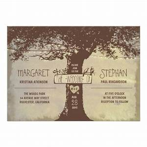 Rustic tree and string lights wedding invitation 5quot x 7 for Wedding invitations with trees and lights