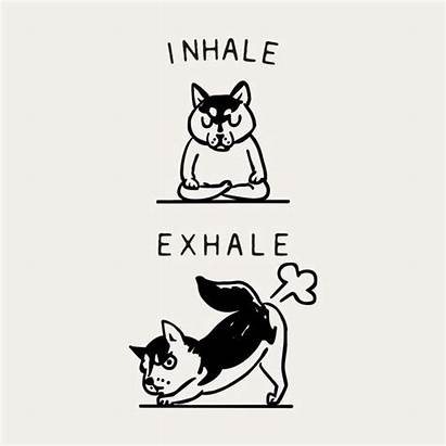 Husky Brighten Exhale Inhale Drawing Petpress Threadless