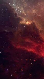 Red Galactic Nebula iPhone 5 Wallpaper HD - Free Download ...