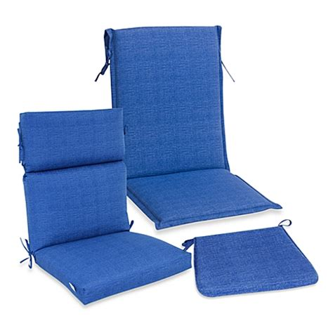 outdoor seat cushion collection in blue bedbathandbeyond